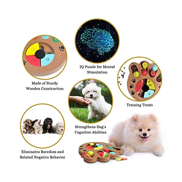 MEISO Unique Shuffle Puzzle Smart Toy for Puppies - Improve Concentration - Reduce hyperactivity - Fun Interactive IQ Game to Hide Treats in - Encourage Mental & Physical Skills of Pets 5