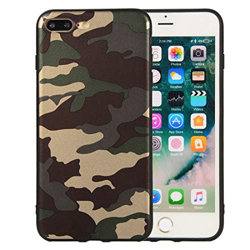 iPhone 8 Plus Case, iPhone 7 Plus Case, Dooge Ultra Slim Fit Anti-Scratch Shock-Proof Camouflage Case Soft Flexible TPU Grip Bumper Rubber Cover for Apple iPhone 7/8 Plus - Paddles Rubber Flexible