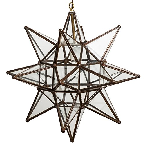 Moroccan Star - 18 Inch Glass Star Lights