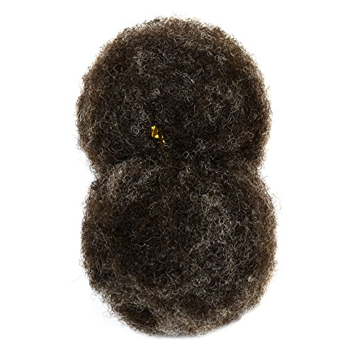 """Price comparison product image Tight Afro Kinky Bulk for Braiding 6-8"""" in Dark Brown mixed w/ 10-15% Grey, #301"""
