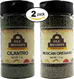 Cilantro, Mexican Oregano 2 Pack Mexican Cooking Bundle - Great For Tacos, Rubs, Pork, Mole, Fajitas, Menudo, Chorizo by Ole Mission