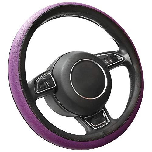 SEG Direct Microfiber Leather Purple Steering Wheel Cover for Prius Civic 14