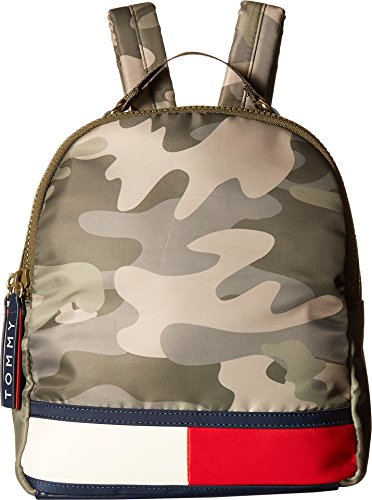 Tommy Hilfiger Women's Nori Flag Camo Nylon Backpack Green One Size