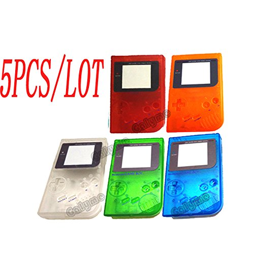 5pcs/lot Hot Transprent Red/Orange/Blue/Green Color shell Full Housing Shell Case for Nintendo Gameboy Classic for GB DMG GBO Shell With Screen Lens