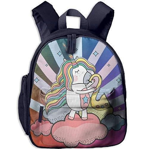 Kindergarten Boys Girls Backpack Blowing Saxophone School Bag -