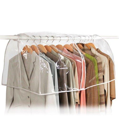 Richards Homewares - Clear Vinyl Storage Closet Garment Cover, 36