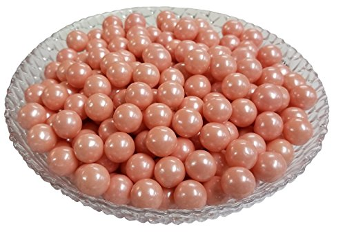 Gumballs Glimmer Pink Bubble Gum 2 Pounds 0.5 inch Mini Gumballs