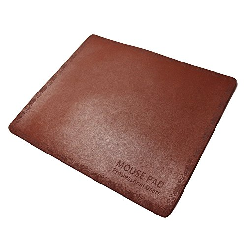 Leather Mouse Pad,Gaming Mousepad,Waterproof Non Slip Printing Pattern-Fashion Brown