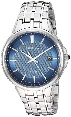 Seiko Dress Watch (Model: SNE507) (Seiko Mens Watch Blue Dial)