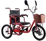 Tricycle for Seniors with Basket, 3 Wheel Bikes Adult Seniors Cruiser Bike, Three-Wheeled Bicycles for Men Wom