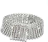 Silver Rhinestone Belt Shiny Crystal Ladies Waist Belt for Women Girls Exquisite Jeans Dress Jewelry Gift