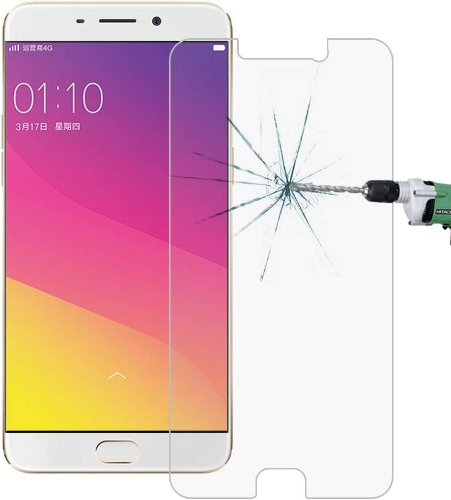 No Retail Package Tempered Glass Film XHC Screen Protector Film 50 PCS for Oppo R9 Plus 0.26mm 9H Surface Hardness 2.5D Explosion-Proof Tempered Glass Screen Film