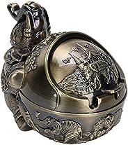 Cinzeiro, ornamento de mesa, liga de zinco de bom brilho à prova de vento estilo vintage Elephant Styling Offi