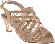 Girl Evening Sandal Rhinestone Dress-Shoes ck19-4