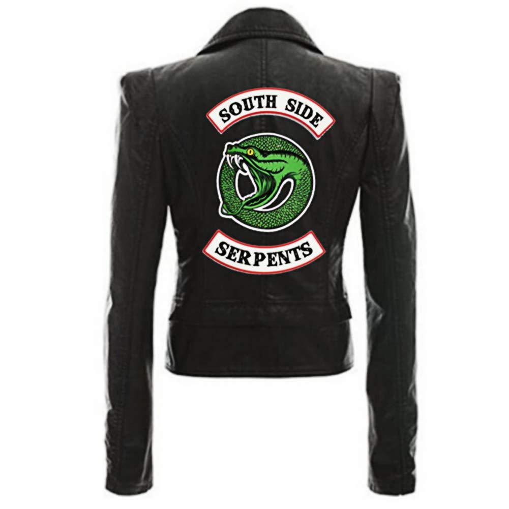 weiyi0765 Donne Riverdale Southside Serpents Faux Cool Giacca di Pelle Costume Cosplay Abbigliamento Quotidiano Abbigliamento Halloween Regalo per Fan