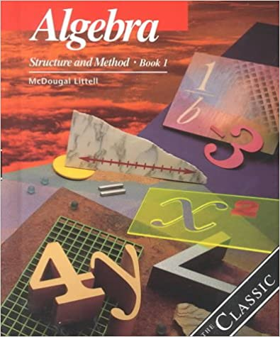 Algebra Structure And Method Book 1 Richard G Brown Mary P