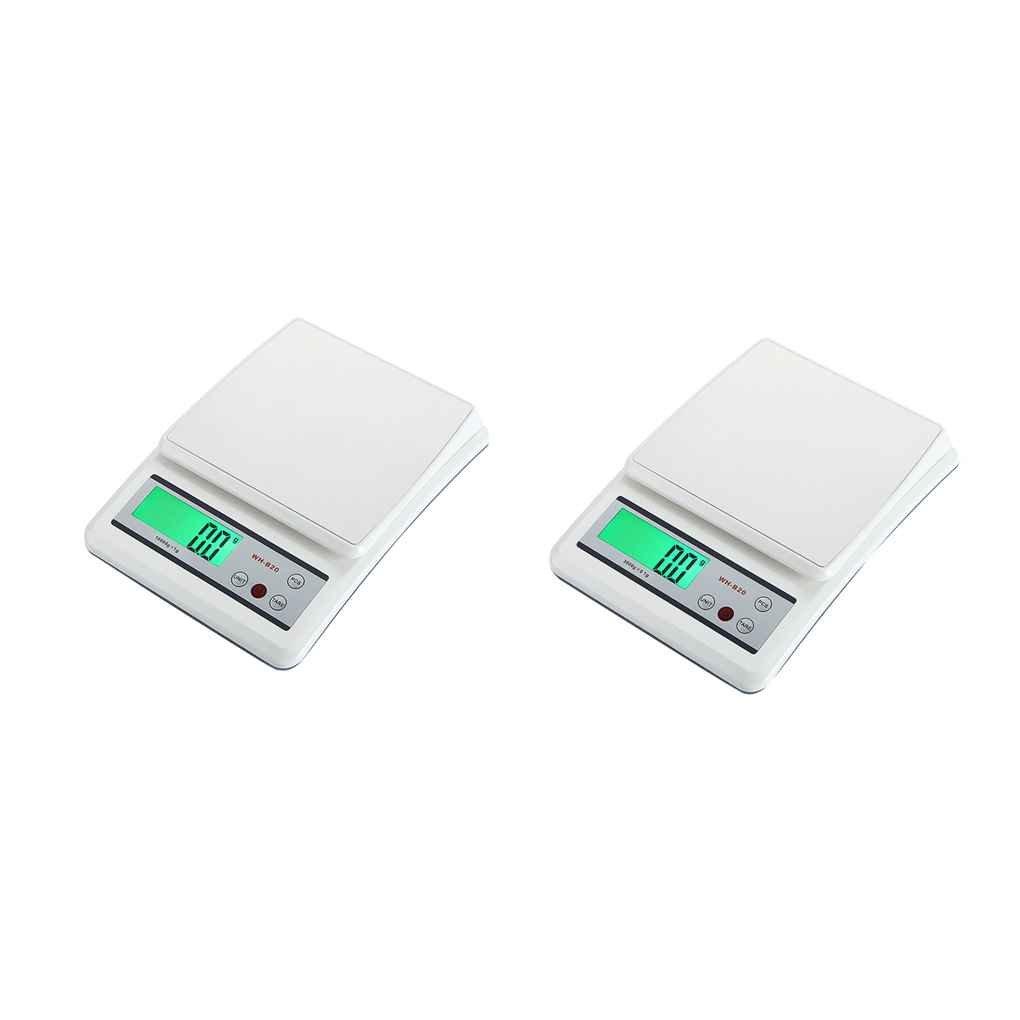 wh-b20l 10 kg/1g 3 kg/0.1g Escala Digital de cocina superficie de acero inoxidable Función de pesaje de balanza de cocina electrónica contador banco: ...