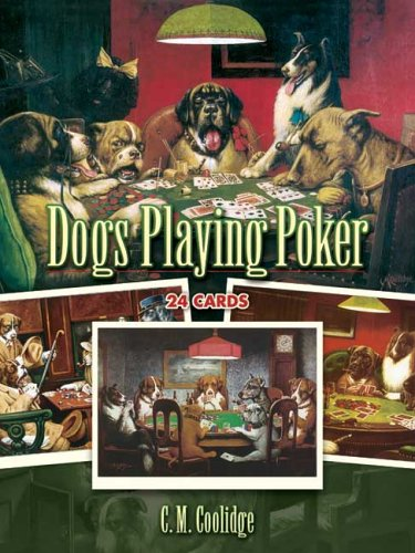 Dogs Playing Poker: 24 Cards (Dover Postcards)