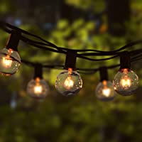 Cadena de Luz G40 8M Guirnaldas Luminosas de Exterior con 25 Bombillas Perfecto para Jardín Patio Trasero Fiesta Navidad…