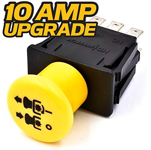 HD Switch Blade Clutch PTO Switch - 10 AMP Upgrade - Replaces John Deere - AM131966 - L120 L130 - D140 D150 D155 D160 D170 - LA130 LA140 LA145 LA150 LA155 LA165 LA175