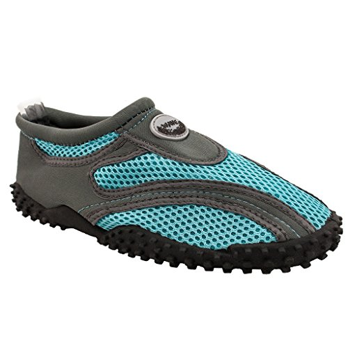 SNJ 1185l Trends Socks Shoes Pool Aqua blue Lt a Wave Yoga Gray Exercise Water Beach The Women's qx7vwP0