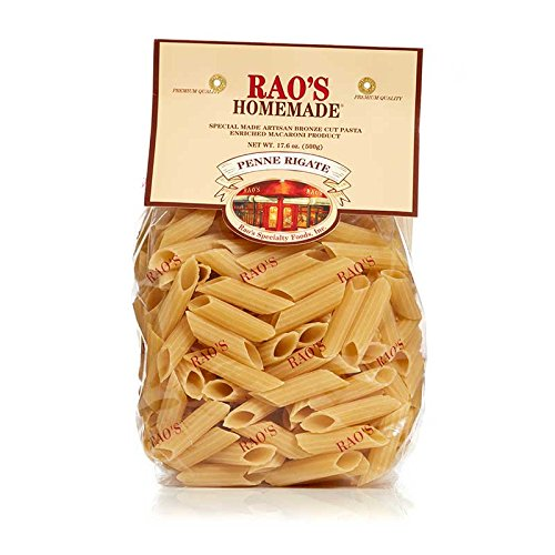 Rao's Specialty Foods, Penne Rigate Pasta, 1 Pack, Artisanal Fresh Dried Italian Pasta, Diagonally Cut Tube Pasta from Durum Wheat Semolina Flour, Imported from Italy, A Traditional Family Favorite