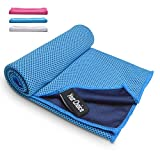 Your Choice Cooling Towel Instant Ice Towel for Workout, Gym, Running & Golf 16 x 32 Inch - Blue