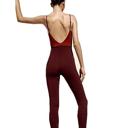 XYAIPR Mono de Yoga, para Mujer, Estiramiento Alto, Espalda ...