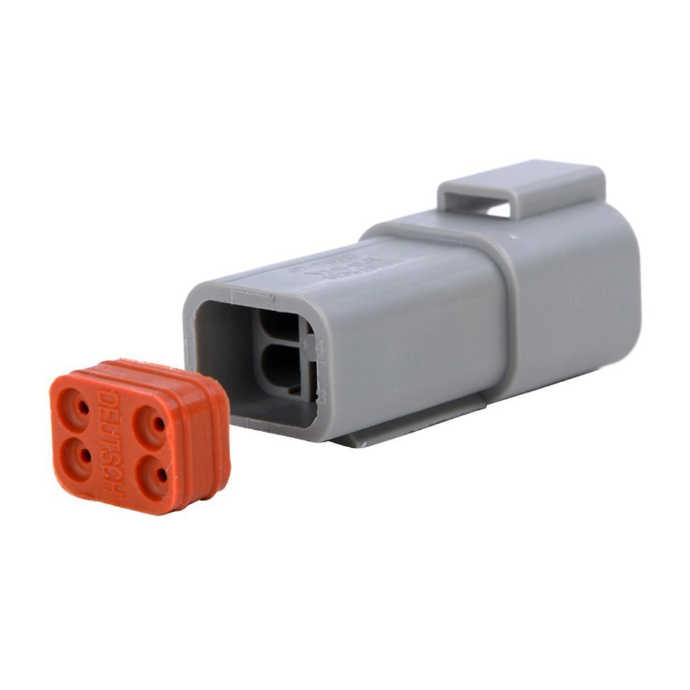 MUYI 10 Kit 4 Pin Way DT Series Connector Gray Receptacle IP67 Waterproof Heavy Duty 14-20 AWG 13 Amps Continuous DT04-4P DT04-4S w/Wedge Lock W4P W4S (10 Kits, 4 Pin) by MUYI (Image #5)