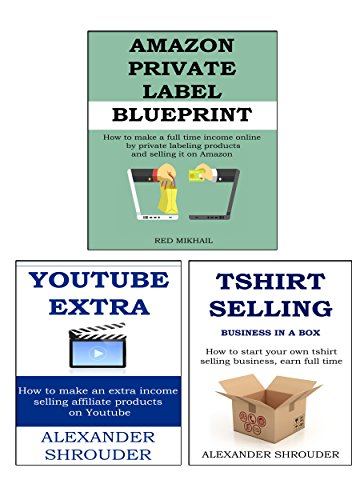 ONLINE START UP 3 in 1 bundle: TSHIRT SELLING BIZ IN A BOX + YOUTUBE AFFILIATE MARKETING + AMAZON PRIVATE - Bundle Labeling