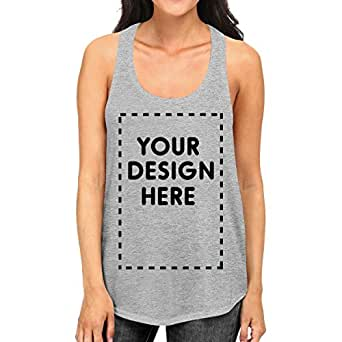 af1afb6c95540 365 Printing Womens Custom Tank Top Personalized Your Design Here Grey Tanks