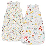 Grobag Wash & Wear Baby Sleeping Bag TWIN Pack - Roll Up 1.0 Tog (18-36 Months)