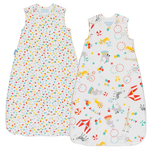 Grobag Wash & Wear Baby Sleeping Bag TWIN Pack - Roll Up 2.5 Tog (6-18 Months)