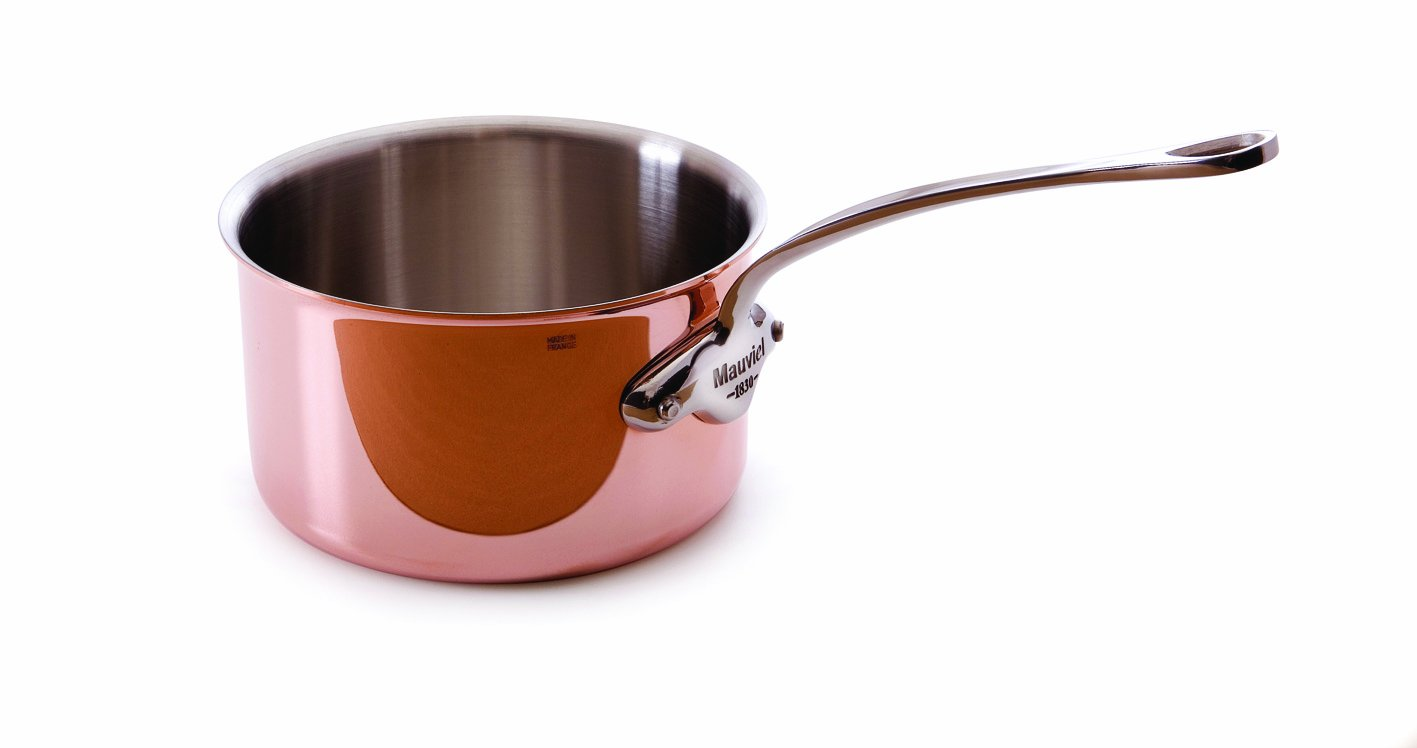 Mauviel Made In France M'heritage 150s 6527.01 0.4-Quart Butter Warmer with Stainless Steel Handle by Mauviel