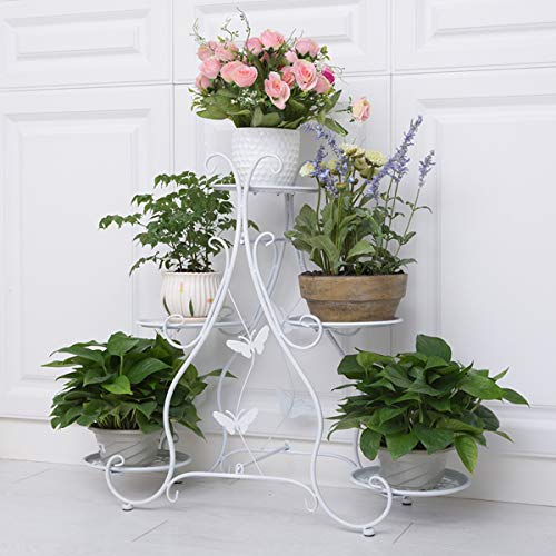 - Floor-standing Wrought Iron Plant Display Stand,Classic Tall Plant Stand Art Flower Pot Holder Rack, Demountable Metal,Planter Supports Garden & Home Decorative Pots Containers Stand ( Color : White )