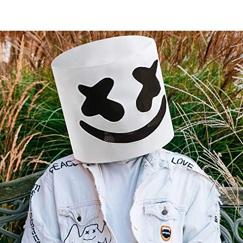 DJs Marshmello Mask Music Festival Marshmallow Full for sale  Delivered anywhere in USA