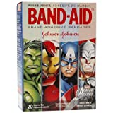 BAND-AID Marvel Avengers Children's Adhesive Bandages, Assorted Characted & Sizes, Colors May Vary 20 ea (Pack of 2)