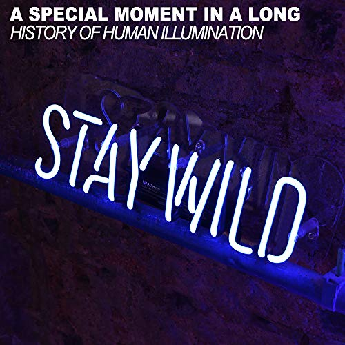 """bests LED Sign Decor Bar Club Fun Homusiness Decor Room Neon Signs Neon Light Signs 13""""X8""""e B (Stay Wild-Blue)"""