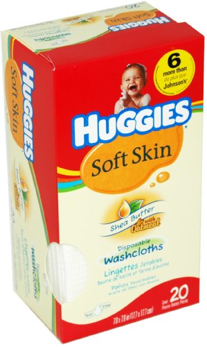 Huggies Shea Butter Washcloth count