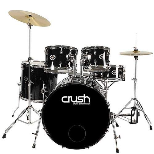 Crush Drums Alpha 5 Piece Complete Drumset, Includes 20x14