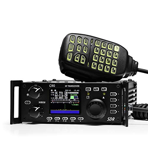 Xiegu G90 HF Amateur Radio Transceiver 20W SSB/CW/AM/FM 0.5-30MHz SDR Structure with Built-in Auto Antenna Tuner (Best Portable Hf Transceiver)