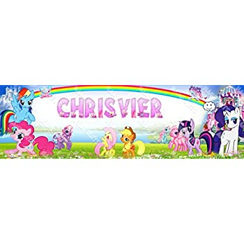 Personalized//Customized My Little Pony Name Poster Wall Art Decoration Banner