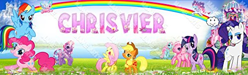 (Personalized / Customized My Little Pony Name Poster Wall Decor Door Birthday Art Banner)