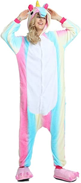 YOGLY Pijama Unicornio para Adultos Pijama Animal Invierno Entero ...