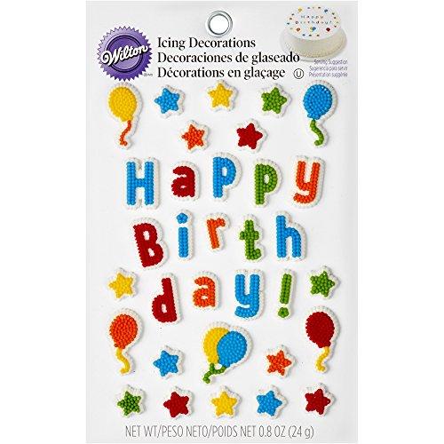 Wilton 710-6075 Kid's Birthday Edible Cake Topper Decorating Kit -