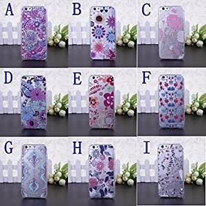 DD Beauty Flowers Pattern Transparent TPU Soft Case for iPhone 6 Plus(Assorted Colors) , C
