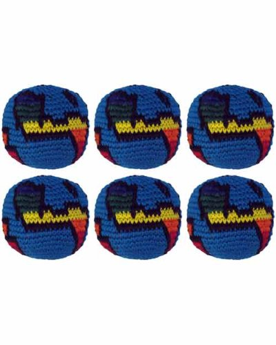 Set of 6 Hacky Sacks - Globe by Turtle Island Imports (Image #1)