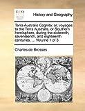 Terra Australis Cognit, Charles de Brosses, 1170597262