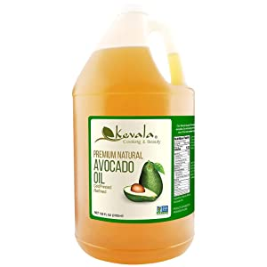 Kevala Natural Avocado Oil · Cold Pressed · Non-GMO · Kosher · 128 Fluid Ounce