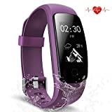Fitness Tracker, Waterproof Activity Tracker with Heart Rate Monitor Bluetooth Smart Watch Wireless Smart Bracelet Sleep Monitor Pedometer Wristband for Android and iOS Smartphone (pink 107)
